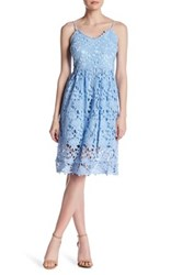 Alexia Admor Fit And Flare Lace Dress Blue