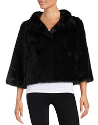 Ivanka Trump Faux Fur Bolero Jacket Black
