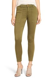 Current Elliott Women's 'The Station Agent' Skinny Twill Pants Army Green