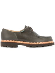 United Arrows Chunky Sole Boat Shoes Leather Rubber 40.5 Green