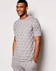 Asos Knitted Tshirt With Circles Stitch Grey