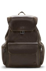 Vince Camuto Men's Travo Leather Backpack Brown T Moro