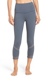 Zella Women's Amour High Waist Crop Leggings Grey Graphite