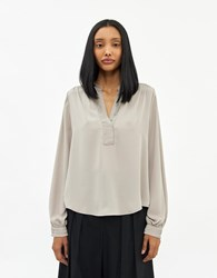 Stelen Jeanna Long Sleeve Top In Taupe Size Extra Small