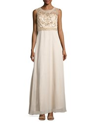 Decode 1.8 Embellished Bodice Gown Champagne
