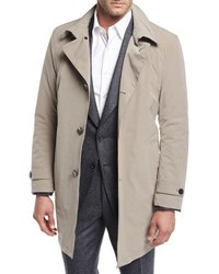 Armani Collezioni Belted Trench Coat Neutral Pattern