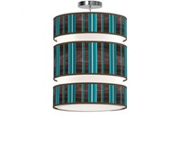 Jefdesigns Vertical Stripey Triple Tiered Pendant Blue