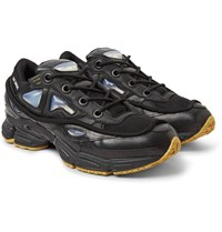 Raf Simons Adidas Originals Ozweego Bunny Rubber Mesh And Leather Sneakers Black
