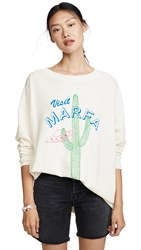Wildfox Couture Visit Marfa Roadtrip Sweatshirt Vintage Lace