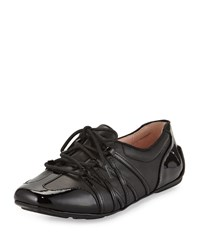 Taryn Rose Candyce Lace Up Sneaker Black Napp