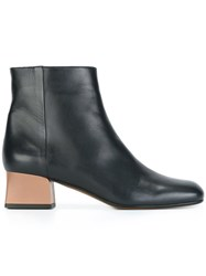 Marni Contrast Heel Ankle Boots Blue