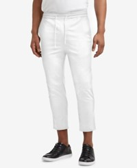 Kenneth Cole Reaction Men's Cropped Stretch Drawstring Pants White