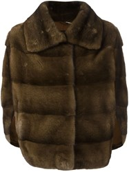 Liska Mink Fur Jacket Brown