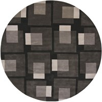 Chandra Bense 3009 Patterned Round Contemporary Area Rug Gray