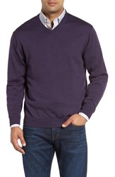 Cutter And Buck Men's 'Douglas' Merino Wool Blend V Neck Sweater Charade Heather