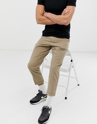 Another Influence Pleated Loose Cropped Chinos Stone