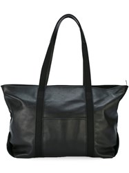 Corto Moltedo East Hampton Tote Bag Men Cotton Calf Leather Goat Skin One Size Black