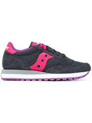Saucony Jazz Original Sneakers Women Cotton Leather Foam Rubber 7.5 Grey