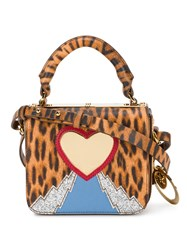 Sophie Hulme Leopard Heart Mini Bag Women Calf Leather Patent Leather Metal Grey Other One Size