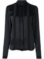 Barbara Bui Pleated Panel Longsleeved Shirt Black