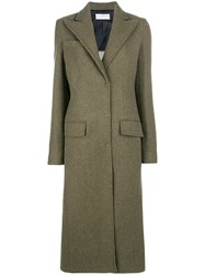 Esteban Cortazar Tailored Coat Green