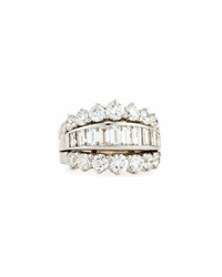 Picchiotti Baguette And Round Diamond Ring 4.37 Tdcw