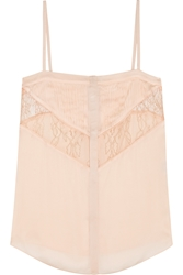 Givenchy Camisole In Blush Silk Chiffon And Lace