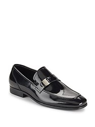 Saks Fifth Avenue Simone Patent Leather Loafers Black