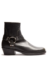 Balenciaga Leather Ankle Boots Black