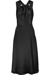 Cushnie Et Ochs Silk Charmeuse Dress Black