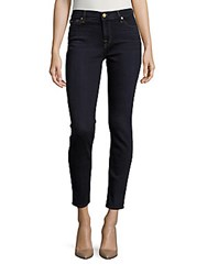 7 For All Mankind Skinny With Squiggle Ankle Length Jeans Dark Dusk Indigo