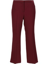 Burberry Cropped Trousers Red
