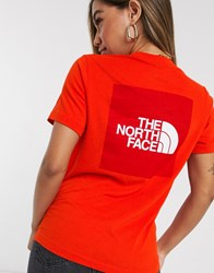 The North Face Box T Shirt In Red