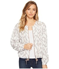 Blank Nyc Printed And Solid Rayon Tencil Jacket In Deep Truth Deep Truth Women's Coat White