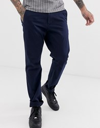 G Star Tapered Fit Cotton Twill Chinos In Navy