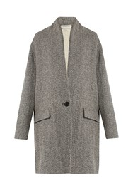 Etoile Isabel Marant Edilon Herringbone Coat Grey