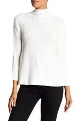 Research And Design Mock Turtleneck A Line Sweater Petite White