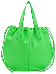 Victoria Beckham Open Top Tote Green