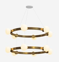 Rich Brilliant Willing Cinema 44 66 Chandelier Yellow