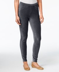 Style And Co Petite Corduroy Leggings Created For Macy's Carbon Grey