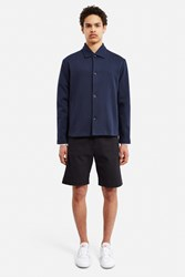 Patrik Ervell Roll Collar Shirt Jacket Navy