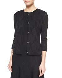 St. John Engineered Floral Lace Cardigan