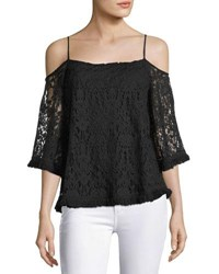 Bailey 44 Tusk Lace Cold Shoulder Top Black