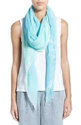 Women's Eileen Fisher Hand Dyed Modal And Silk Scarf Green Green Mint