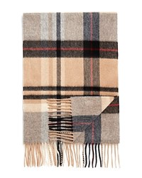 Bloomingdale's The Men's Store At Cashmere Big Plaid Scarf Camel Deep Wine