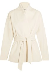 Toteme Zurs Belted Wool Blend Jacket Off White