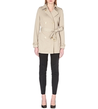 Michael Michael Kors Belted Twill Trench Coat Khaki