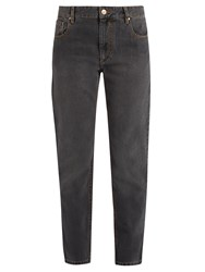 Etoile Isabel Marant Cliff High Rise Straight Leg Jeans Grey