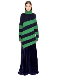 Marco De Vincenzo Ribbed Striped Wool Sweater