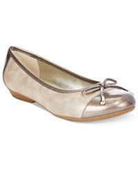 Karen Scott Rylee Flats Only At Macy's Women's Shoes Light Gold
